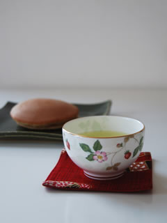 日本茶&どら焼き