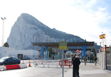 ジブラルタルの国境