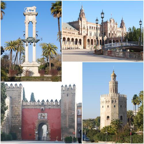 ムリーリョ公園&スペイン広場&黄金の塔&アルカサル