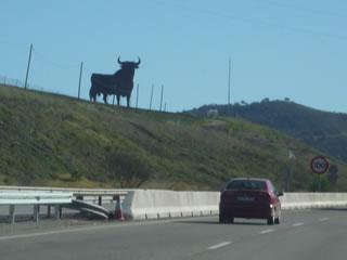 黒い牛の看板