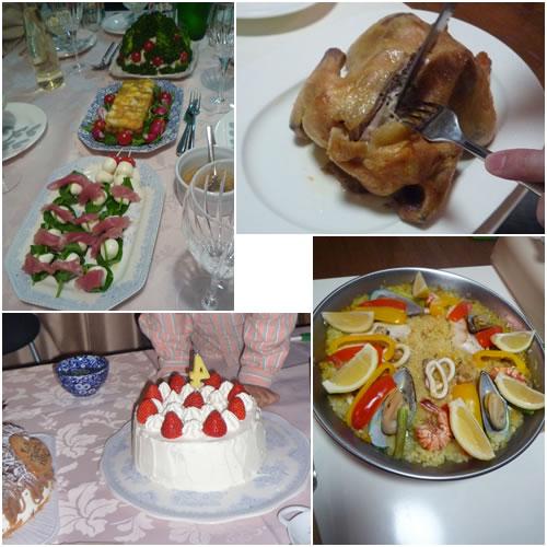 誕生日&クリスマスの料理