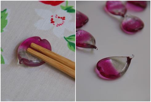 桜の花びらの箸置き