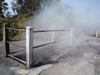 蒸気の噴出口