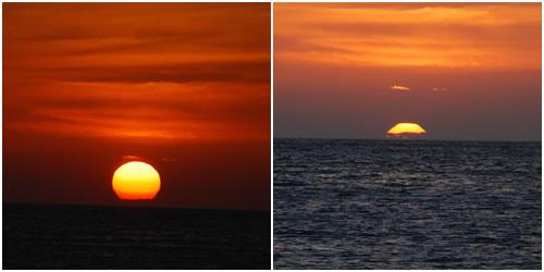 日が沈むところ