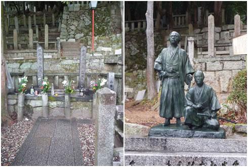 中岡慎太郎と坂本龍馬の墓