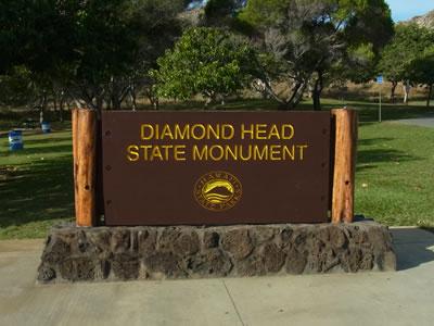 ダイヤモンド・ヘッドの看板