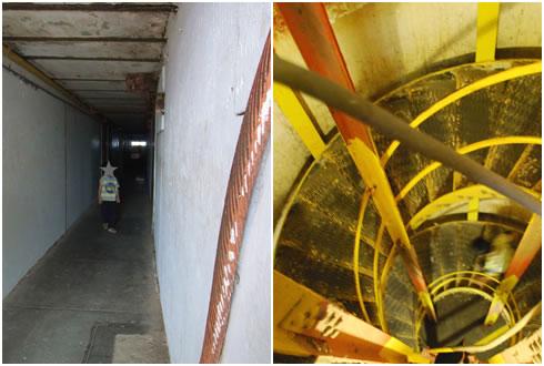 トンネル&らせん階段