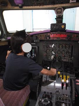 飛行機のシミュレーター