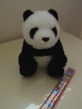 パンダのぬいぐるみ&鉛筆