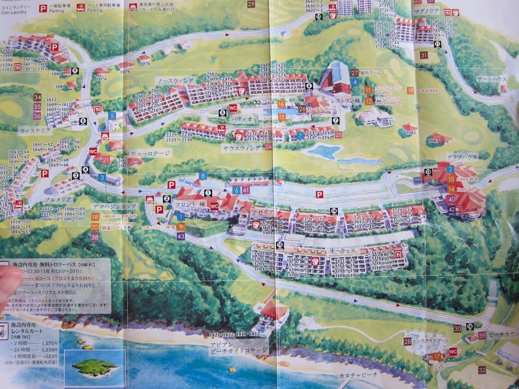 カヌチャベイホテル&ヴィラズ MAP