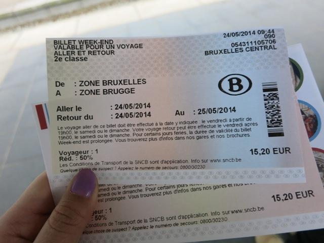 ブルージュ IC チケット