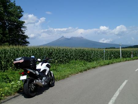 092もろこし畑と駒ヶ岳
