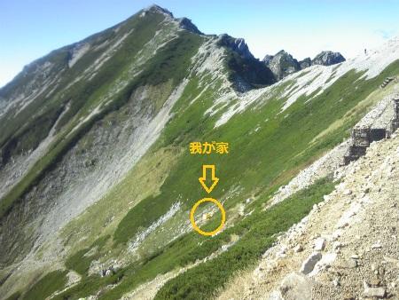 003唐松岳テン場