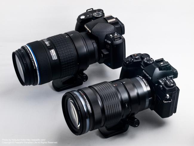 E-520+ED 50-200mm F2.8-3.5 SWDとE-M1+ED 40-150mm F2.8 PRO