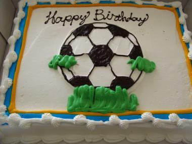 サッカーケーキ