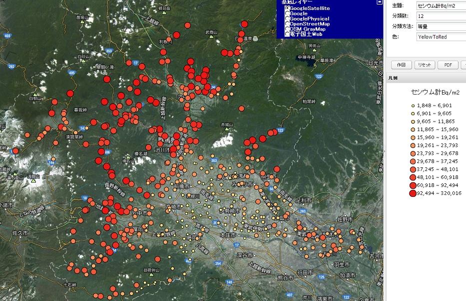 群馬県汚染地図3