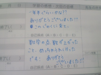 Nさん記録ノート