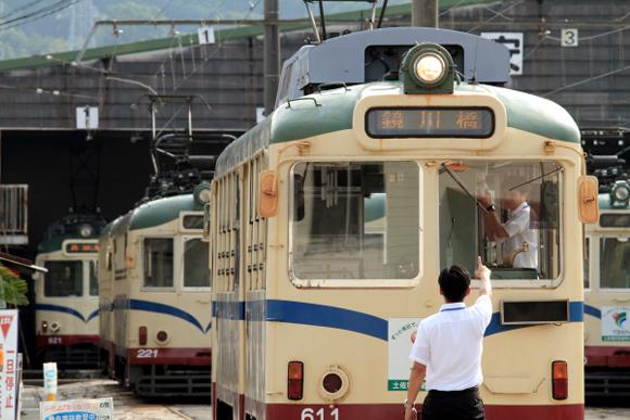 2012/9/13 土佐電鉄 桟橋車庫で