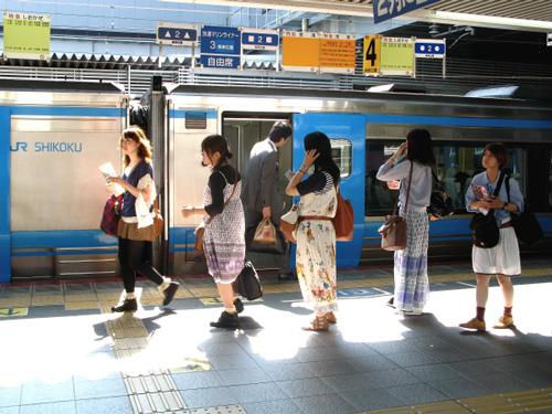 2012/9/12 JR岡山駅で