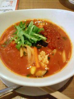 トマト麺 Vegie Chiliマサラ麺