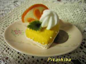 フェルトオレンジケーキ
