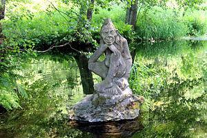 東北ボヘミア・メトゥイェ河畔の「地獄のヴォドニーク像」