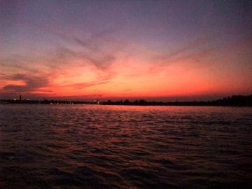 ベネチア21リド島夕日