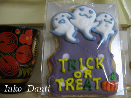 2010  ハロウィン アイシングクッキー  おばけちゃん
