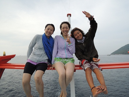 タオ島 ダイビング お客さん