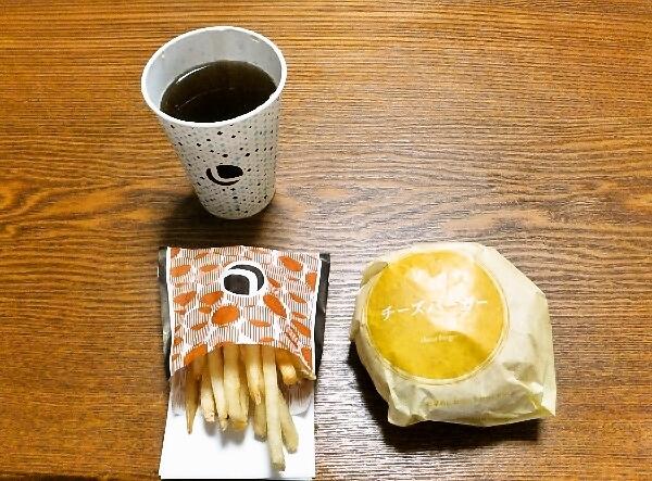 ロッテリアのチーズバーガーセット