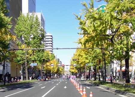 大阪マラソン御堂筋