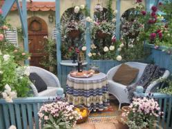 室内でもあり、庭ともいえる、中庭のような