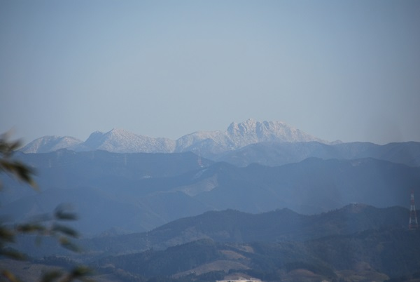 雪山が見えたよ