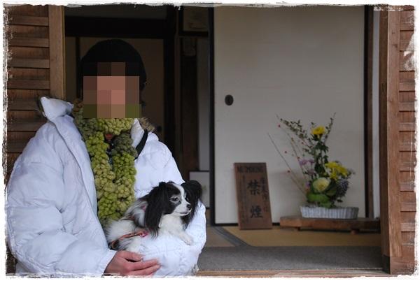 旧地蔵院入り口で記念撮影