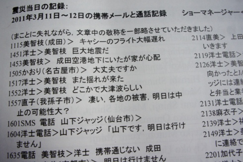 4)当日の記録