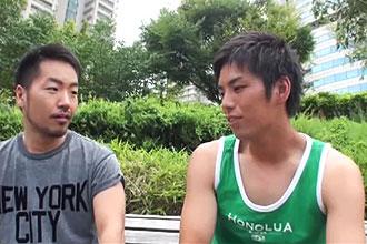 [男のプリケツ] ゲイ動画:出会い系で会ったら超イケメン野球男子男初体験 !!