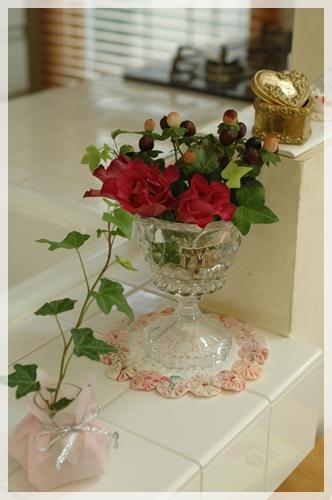 キッチンの花