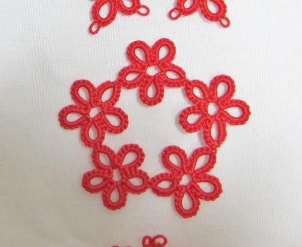 タティング お花のサークル