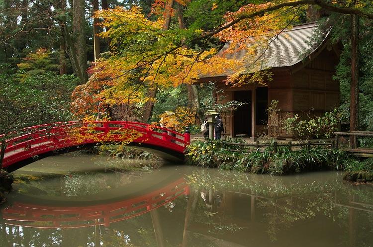 晩秋の小國神社