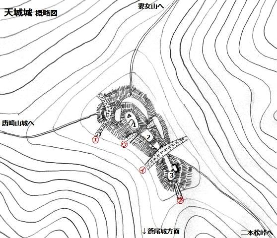 天城城概略図①