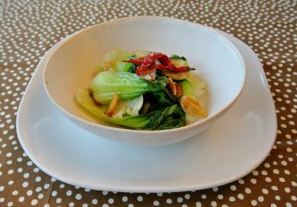 青梗菜の醤油麹