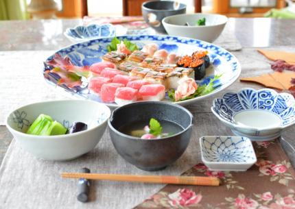 鰻で押し寿司