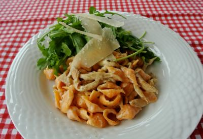 sweet pepper shell pasta