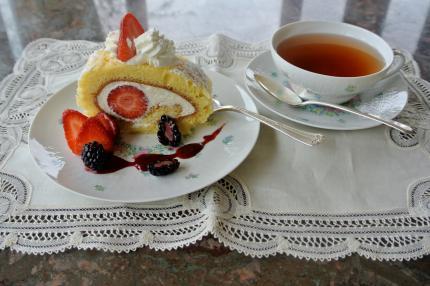 苺のロールcake