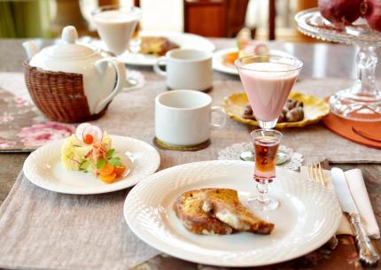 Frenchtoastで朝食