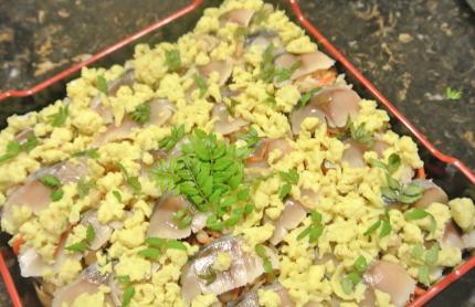 しめ鯖のバラ寿司