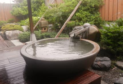皆生温泉、露天風呂