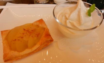 apple pieとソフトクリーム