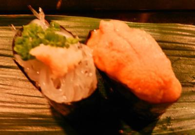 白魚とウニ