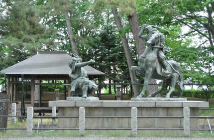 武田信玄、上杉謙信の戦い像